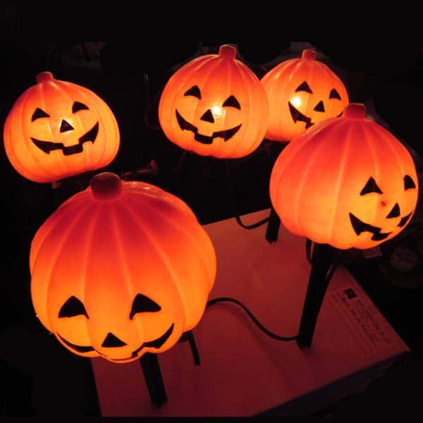 Pumpkin Lawn Stakes Light Decoration