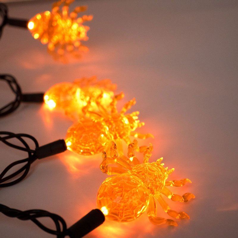 LED Halloween Spider Lights Set