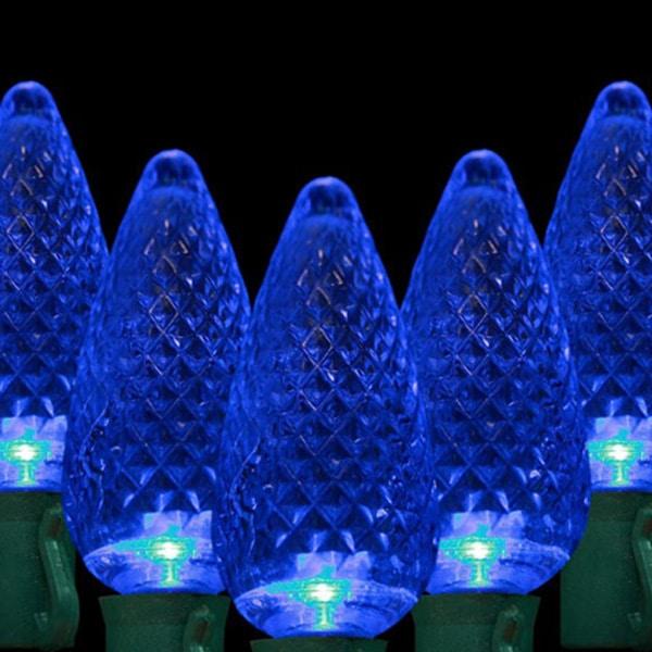 Blue C9 LED Lights