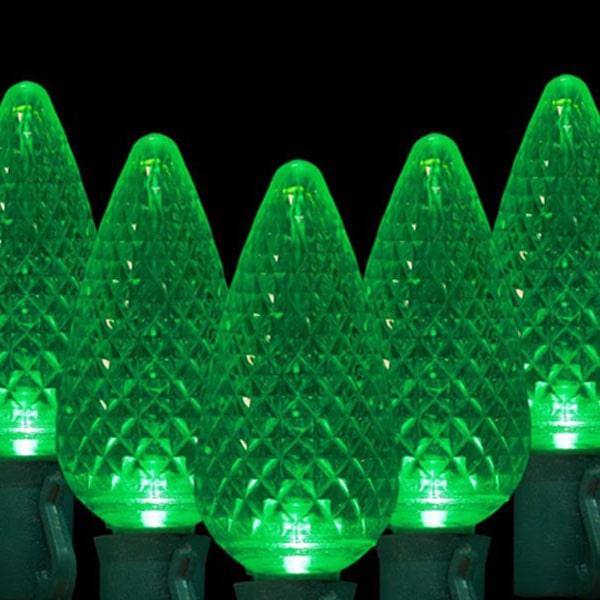 Green C9 LED Lights
