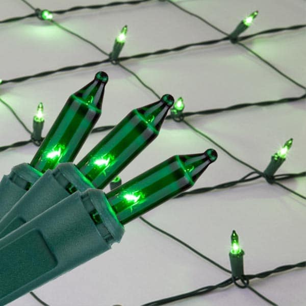 Green Mini Net Lights