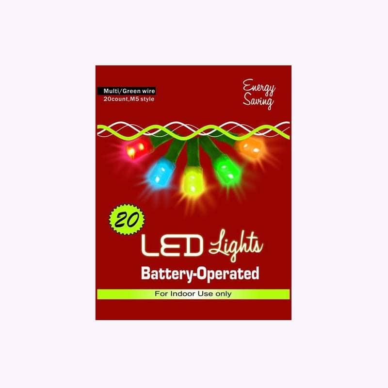 led battery powered christmas lights string set