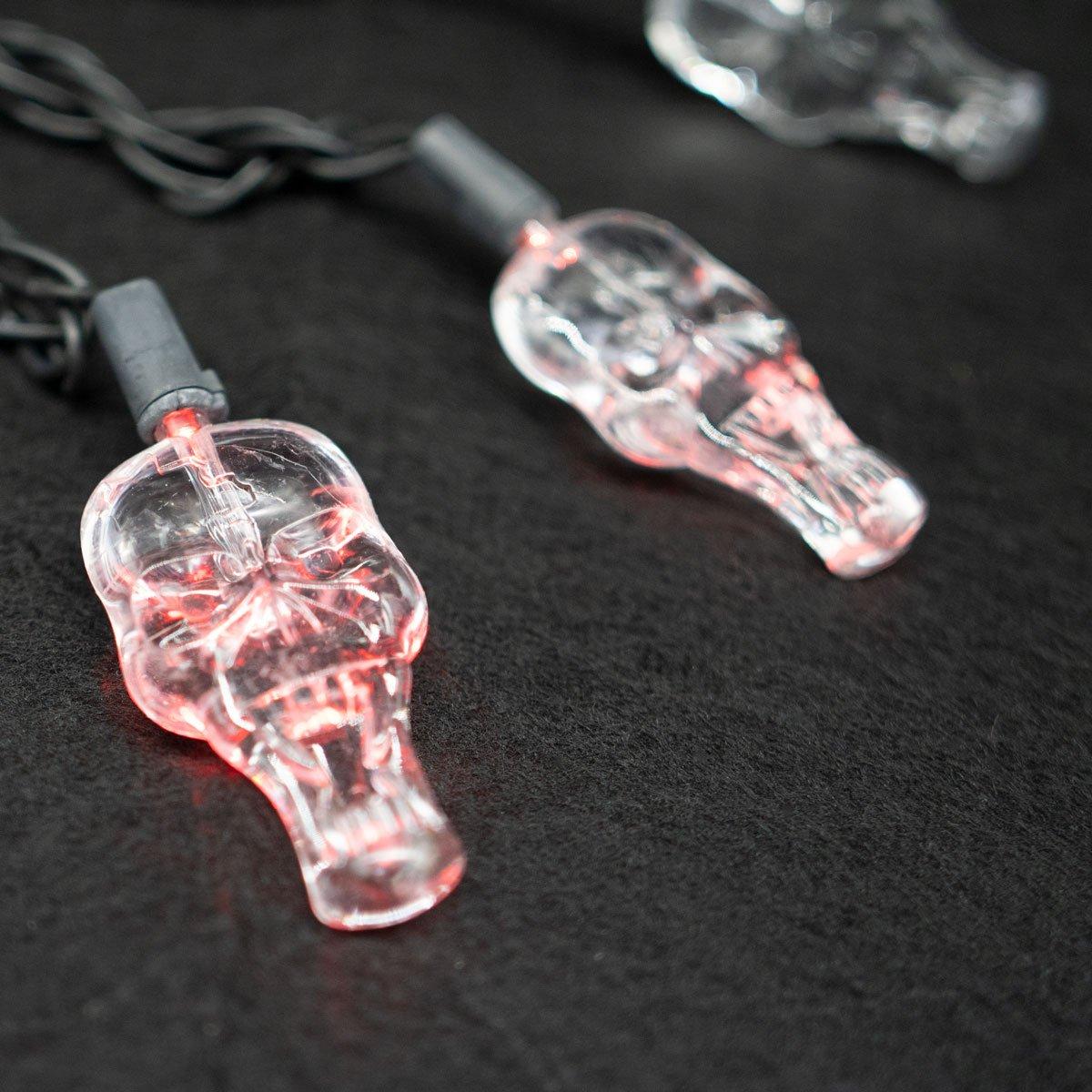 LED Red Skull Lights