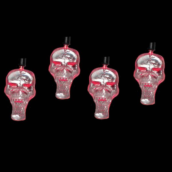 LED Red Skull Lights String Set