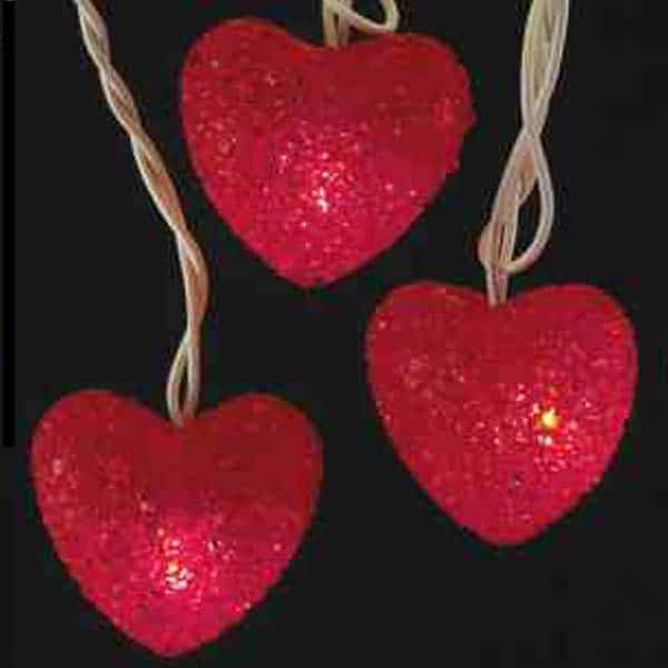Valentine's Day Heart String Lights: