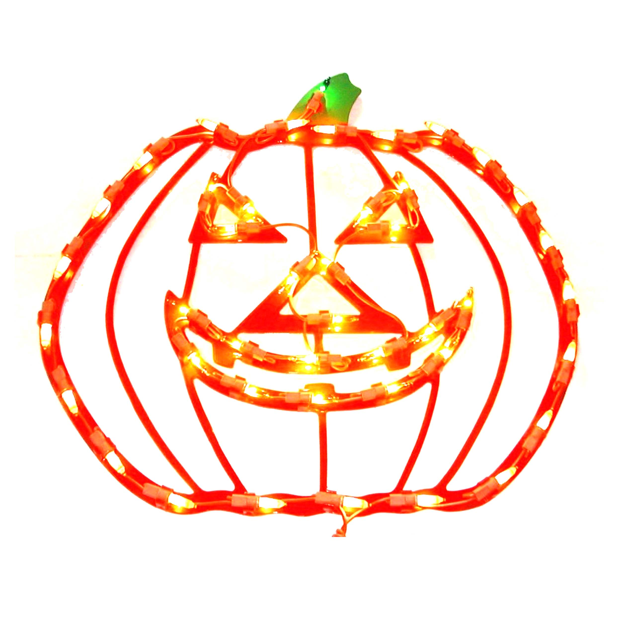 Halloween Pumpkin Window Plaque Lights