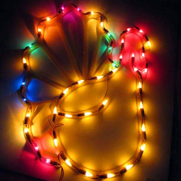 Thanksgiving Turkey Window Plaque Lights