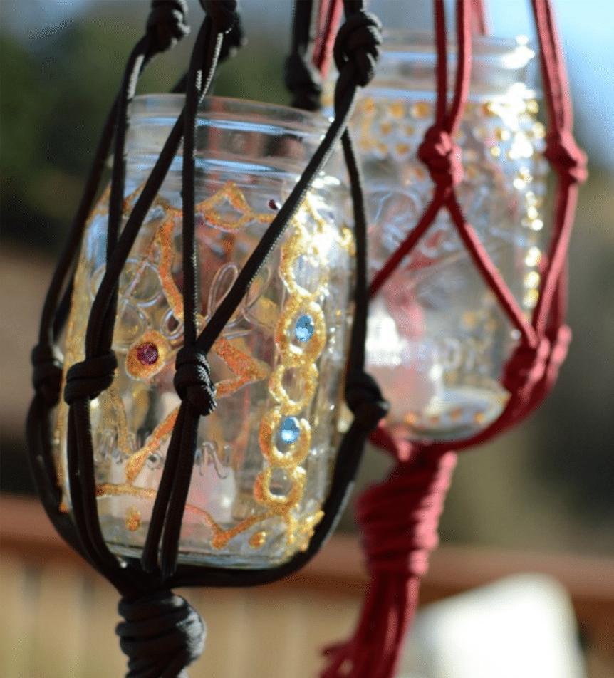 DIY Boho Candle Lantern
