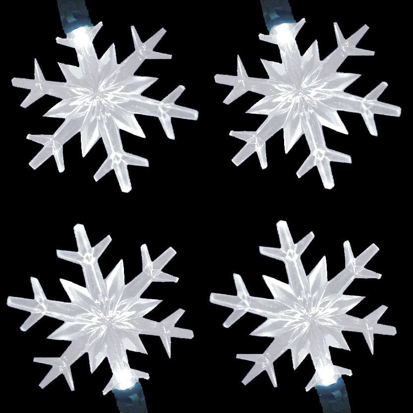 LED Snowflake Lights String Set