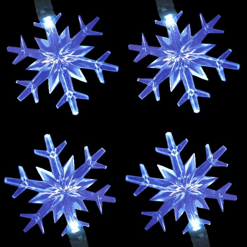 Led Snowflake Lights String Set Northern Lights And Trees