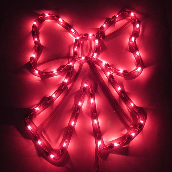 Lighted Bow Plaque Light