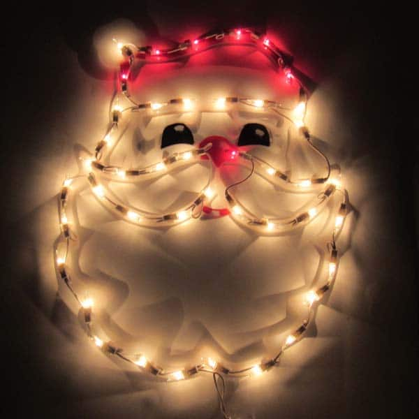 Santa Face Plaque Light