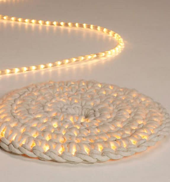 Crocheted Rope Light Rug