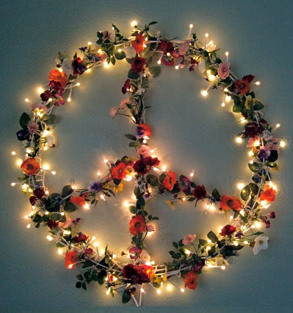 Peace Light Sign