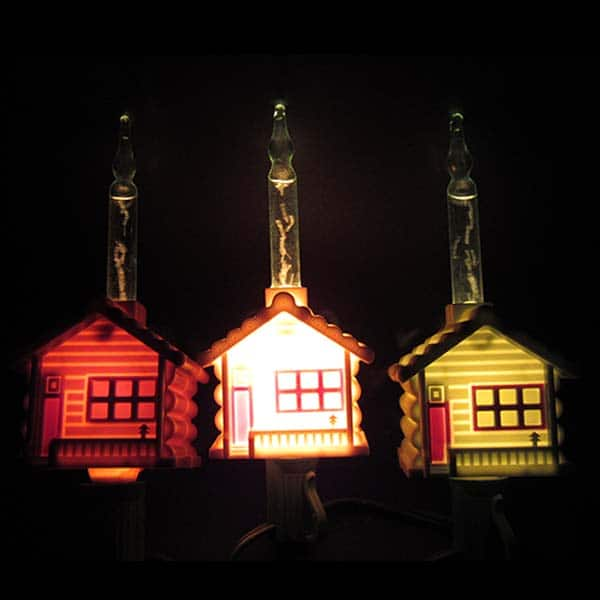 Log Cabin Bubble Lights