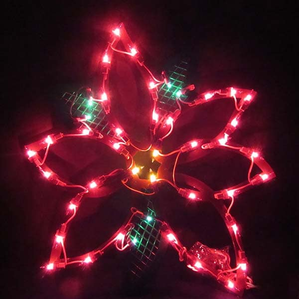 Poinsetta Plaque Light