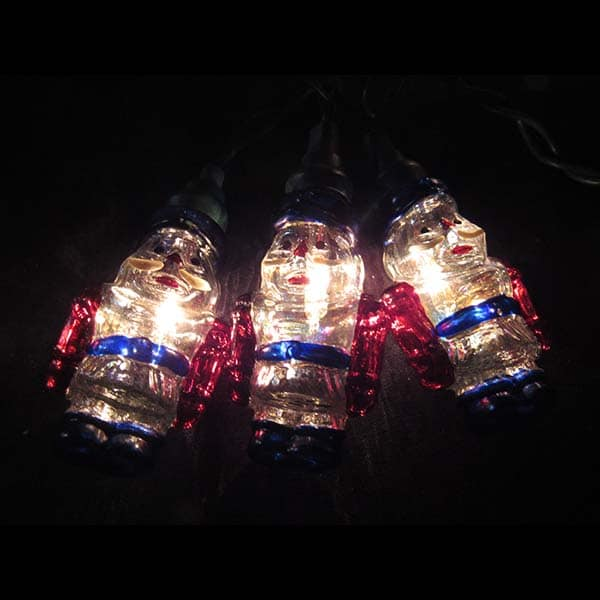 Glass Santa Lights String Set