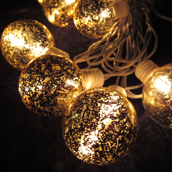 Gold Vintage Globe Lights