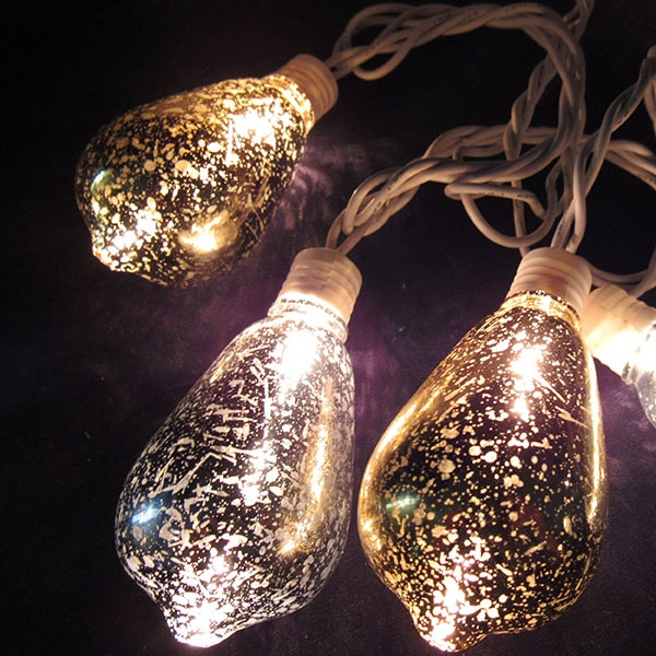 Gold Silver Vintage Edison Lights