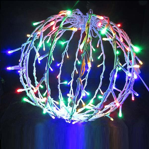 Hanging LED Metal Light Balls | Northern Lights and Trees