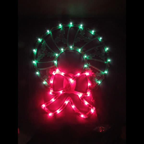 Lighted Wreath Plaque Light