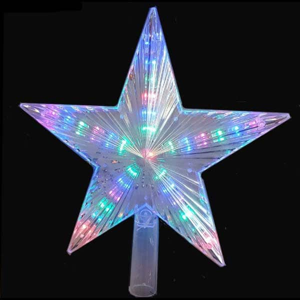 Motion LED Star Tree Toppers