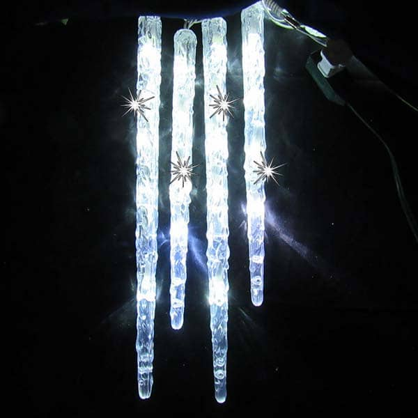 Long Twinkling LED Icicle Lights