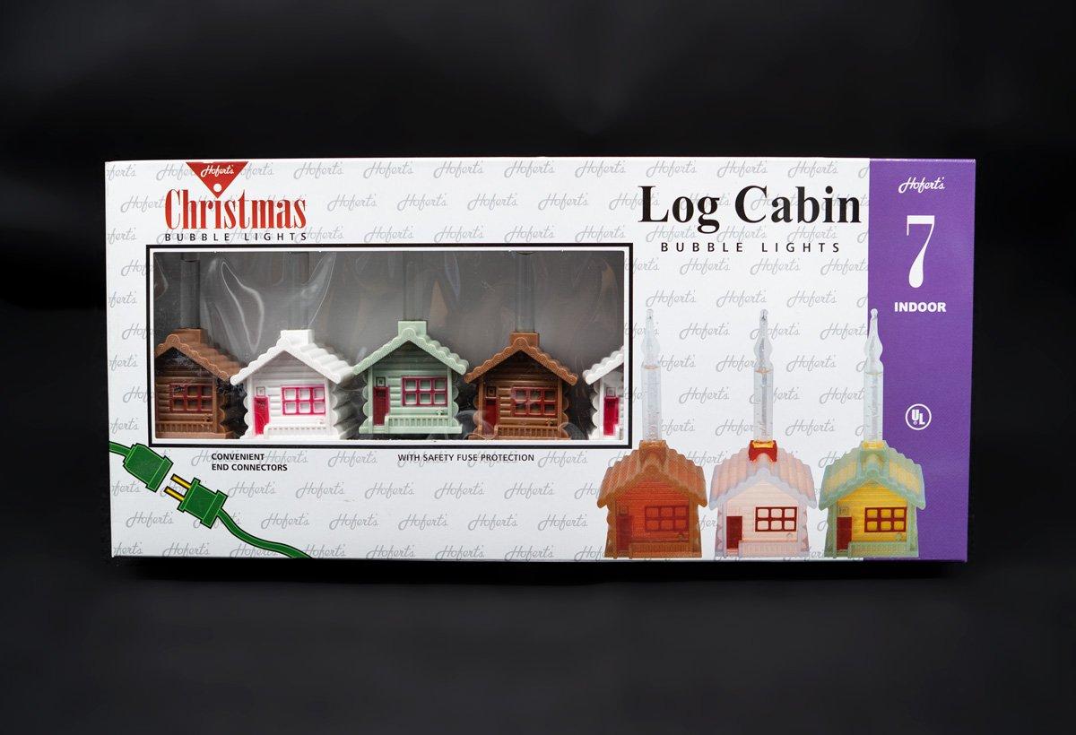 1055 Log Cabin Bubble Lights
